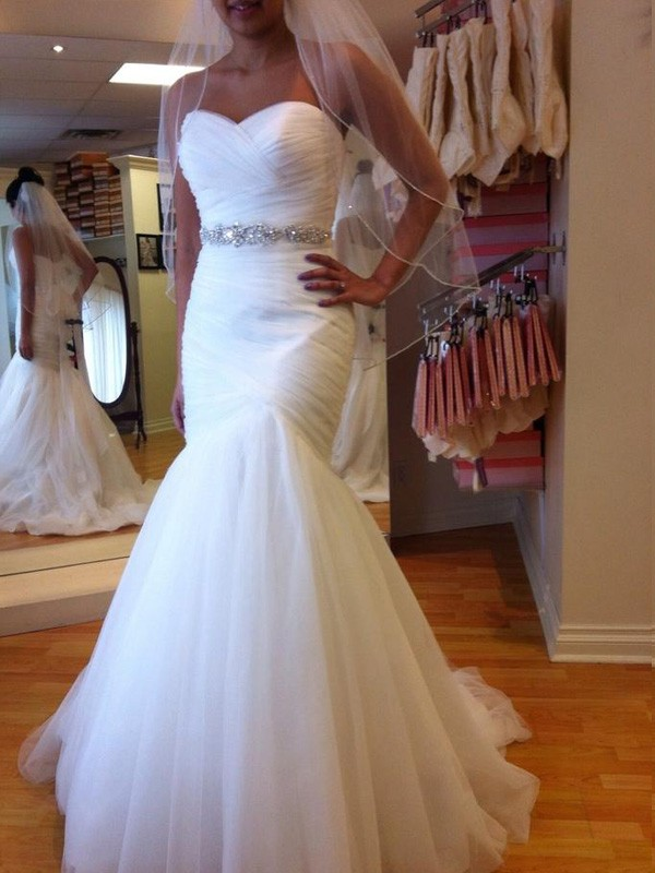 Eye-Catching Charm Mermaid Style Sweetheart Court Train Beading Tulle Wedding Dresses