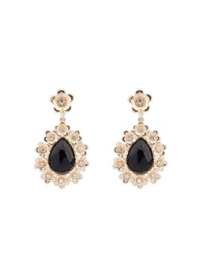 Occident All-match Floret Water Drop Temperament Hot Sale Earrings
