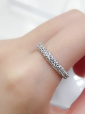 Classic S925 Silver With Rhinestone Rings
