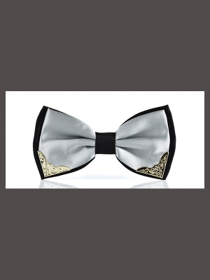 Modern Polyester Metal Bow Tie