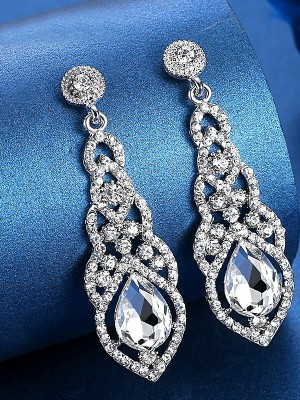 Ladies's Luxurious Crystal Earrings