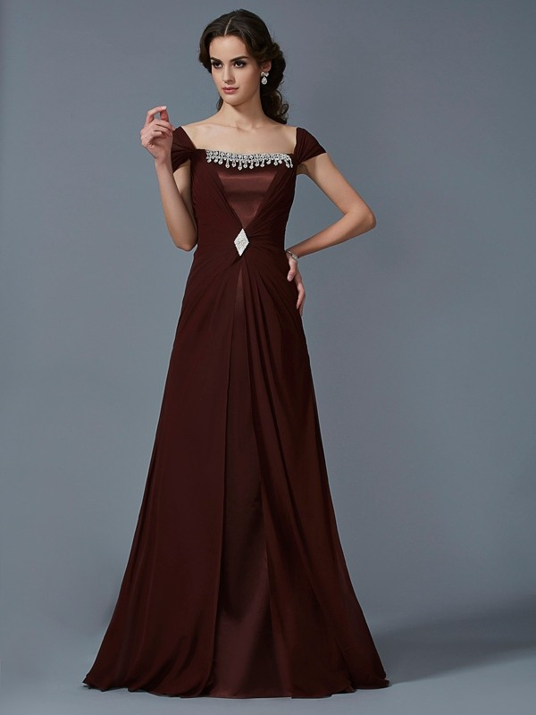 Time to Shine Princess Style Strapless Long Chiffon Dresses