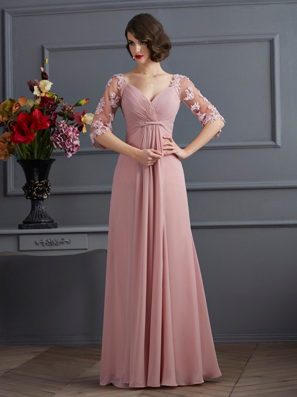 Lively Identity Princess Style Sweetheart Beading Long Chiffon Dresses