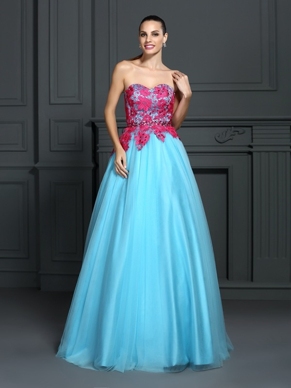 Intuitive Impact Ball Gown Sweetheart Lace Long Satin Quinceanera Dresses