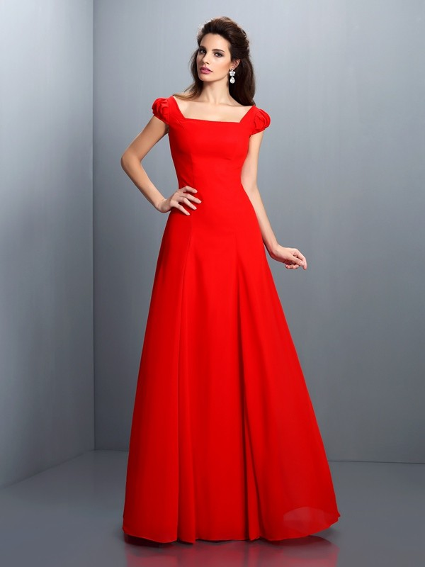Savor the Occasion Princess Style Bateau Long Satin Dresses