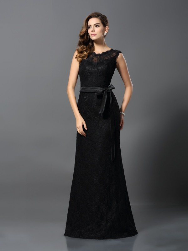 Chic Chic London Sheath Style Scoop Lace Long Satin Dresses