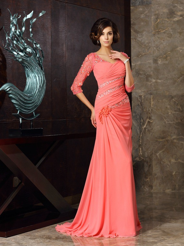 Memorable Magic Mermaid Style Sweetheart Long Chiffon Mother of the Bride Dresses