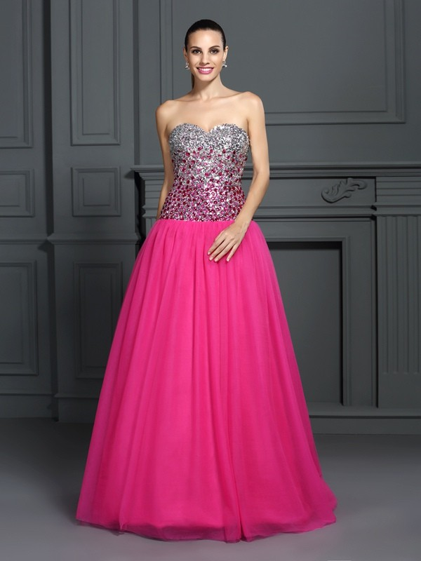 Lively Identity Ball Gown Sweetheart Long Organza Quinceanera Dresses