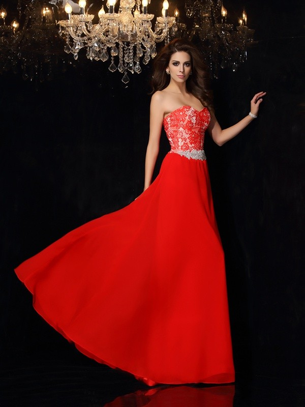 Pleased to be Me Princess Style Sweetheart Lace Short Chiffon Dresses