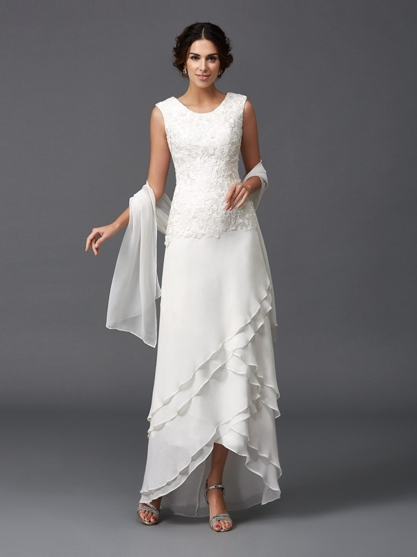 Chic Chic London Princess Style Scoop Lace Long Chiffon Mother of the Bride Dresses