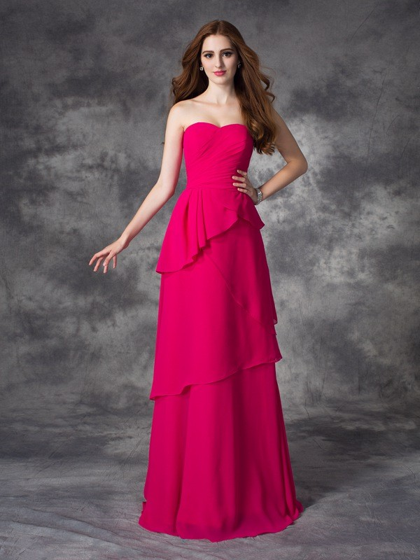 Pleased to be Me Princess Style Sweetheart Layers Long Chiffon Bridesmaid Dresses