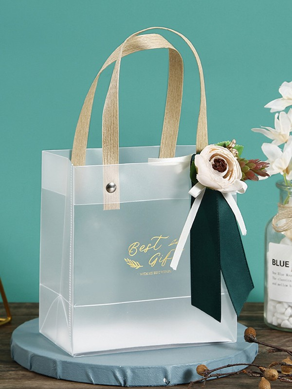 Lovely PVC With Flower Gift Bags