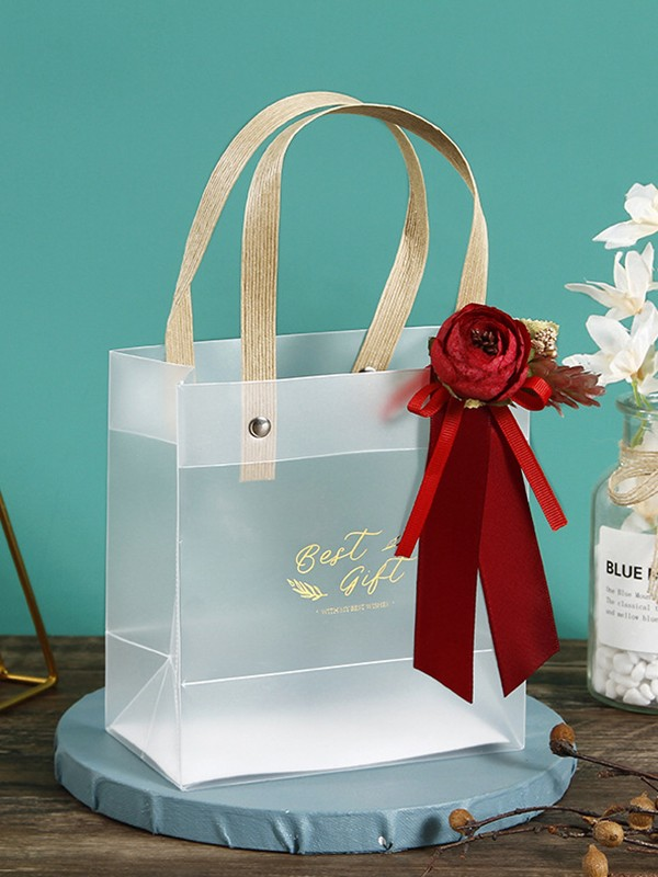 Awesome PVC With Flower Gift Bags