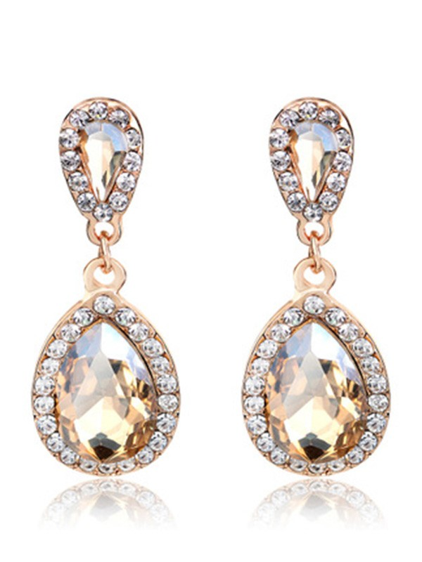 Vintage Alloy With Rhinestone Women's Earrings
