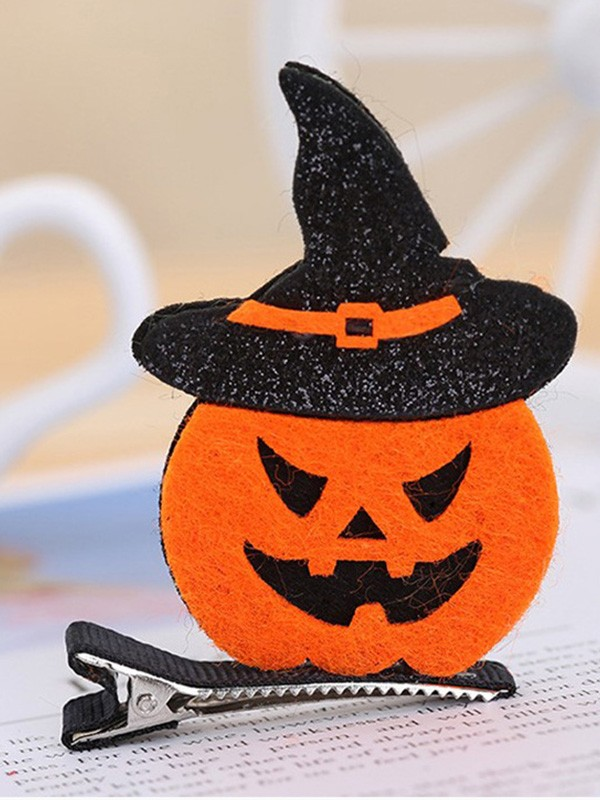 Halloween Awesome Metal With Pumpkin Hairpins For Children