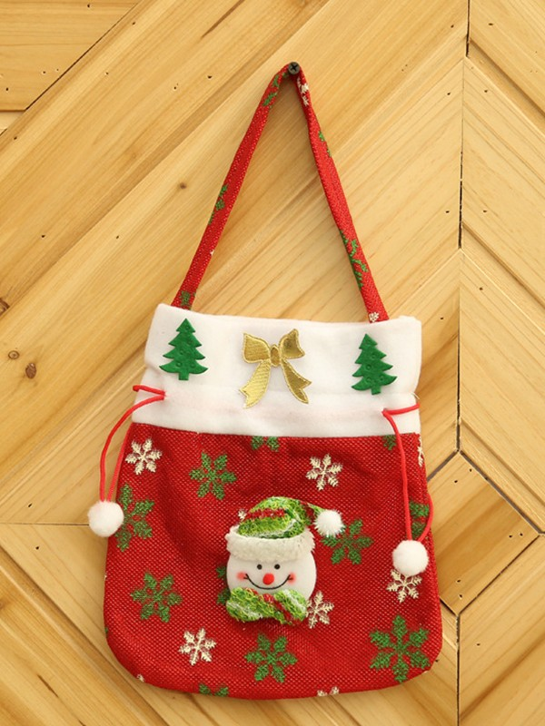 Christmas Attractive Cloth With Snowman Bags