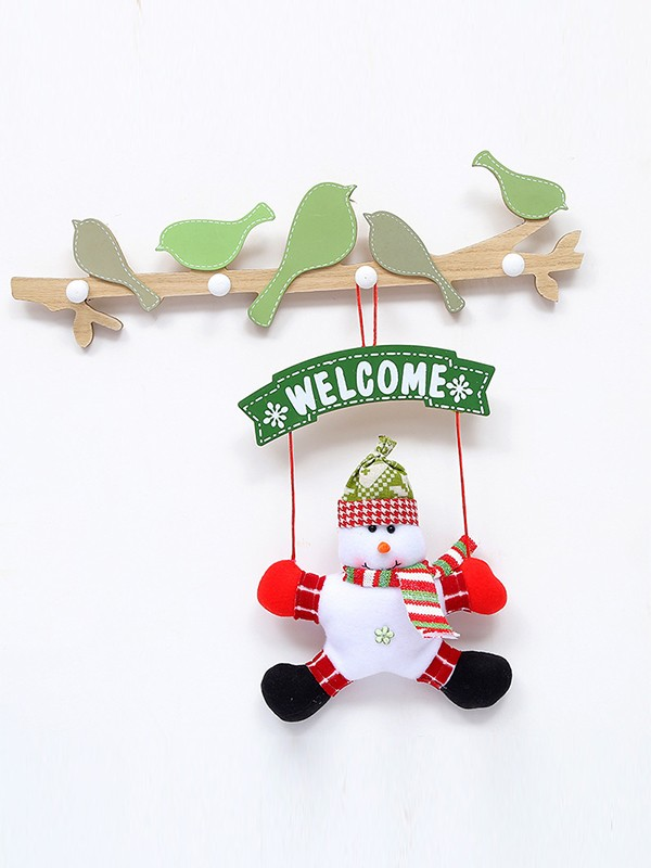Chic Iron With Snowman Christmas Decoration