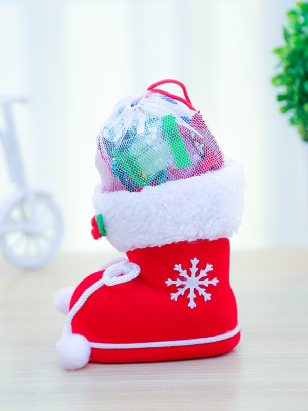 Christmas Bright Plastic With Snowflake Boots