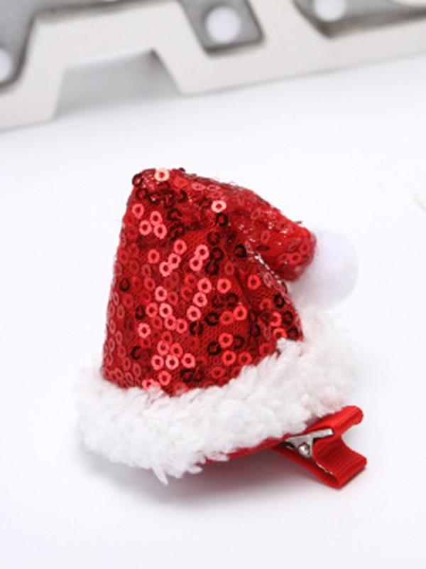 Christmas Pretty Cloth With Hat Hairpins