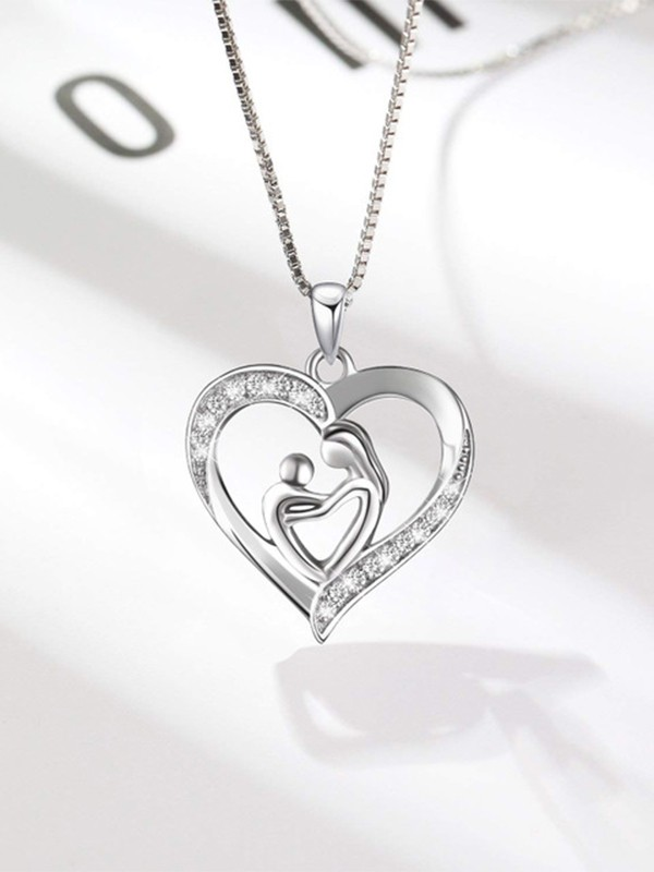 Unique S925 Silver With Rhinestone Hot Sale Necklaces For Mother