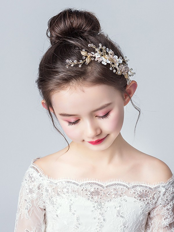 Fascinating Alloy With Flower Headbands