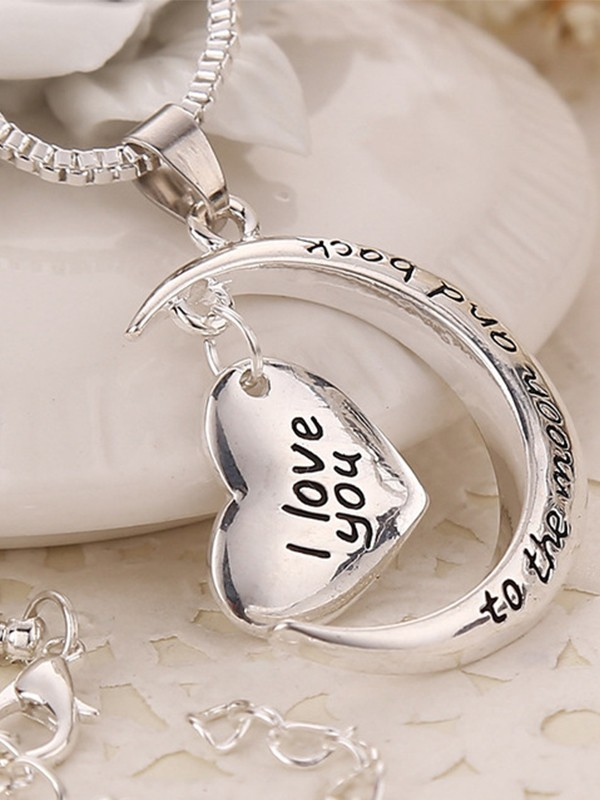 Fashion Alloy With Heart Necklaces For Mother