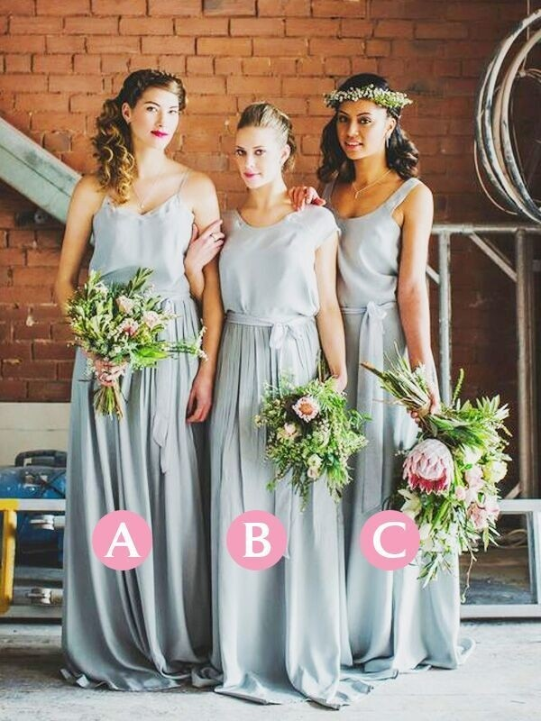 Styled to Smile Princess Style Floor-Length Chiffon Bridesmaid Dresses