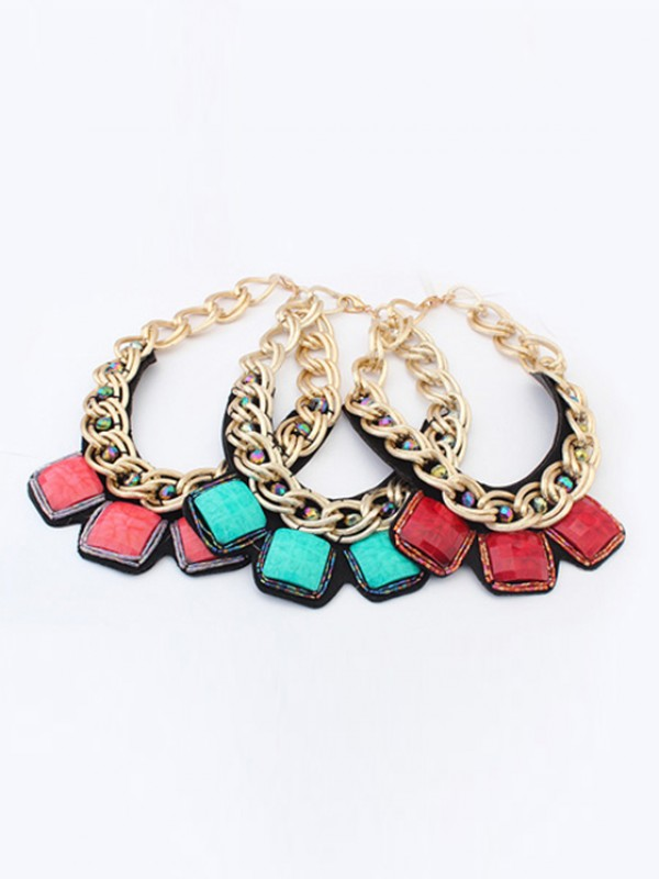 Occident Hyperbolic Metallic thick chains Personality Hot Sale Necklace