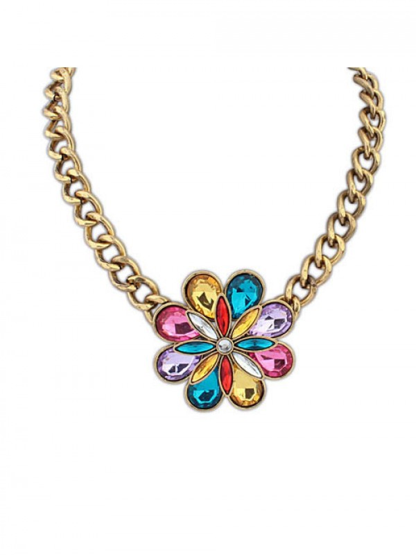 Occident Bohemia Exotic Style Big Flower Necklace