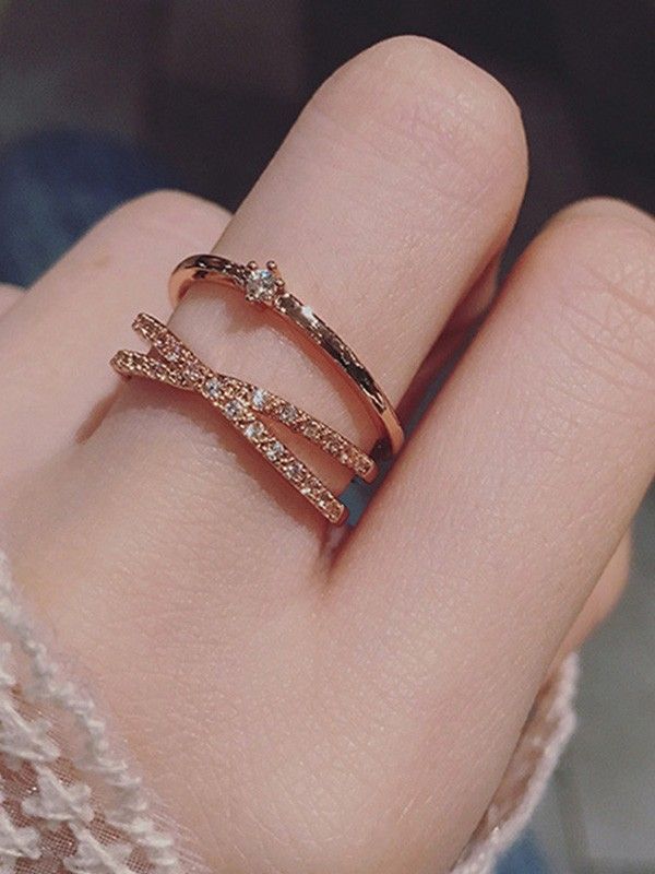 Trending Copper With Zircon Hot Sale Adjustable Rings