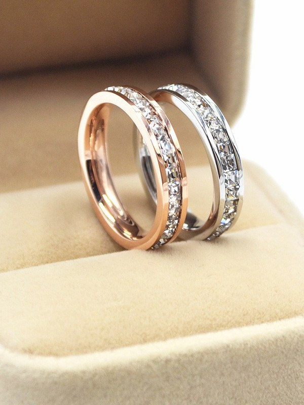 Gorgeous Titanium With Rhinestone Hot Sale Rings