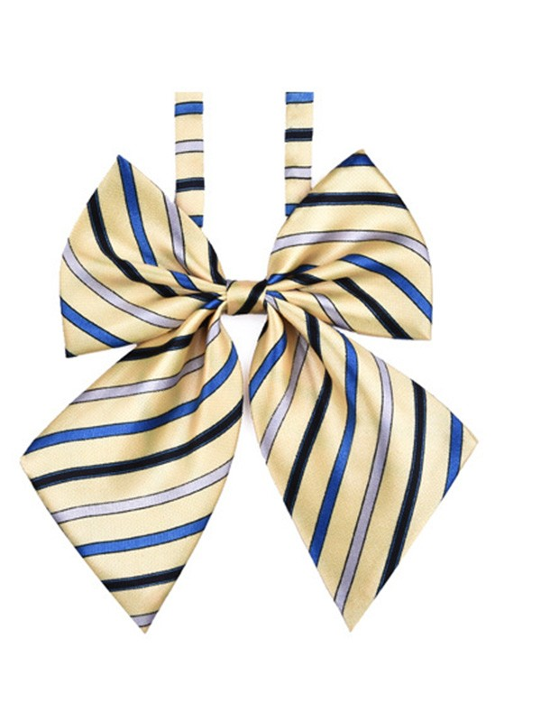 Modern Striped Polyester Bow Tie For Women