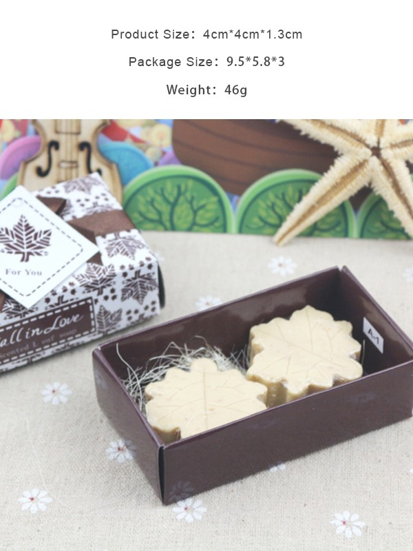 Wedding Gifts-Cute Leaf Soaps(5 Pieces)