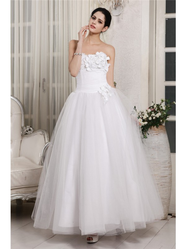 Just My Style Ball Gown Sweetheart Beading Long Organza Wedding Dresses