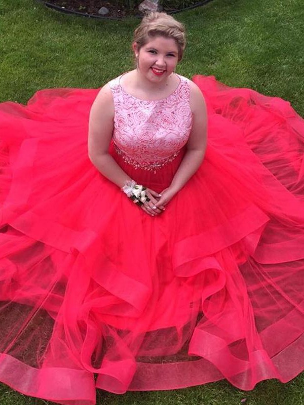 Lively Identity Princess Style Bateau With Sequin Floor-Length Organza Plus Size Dresses
