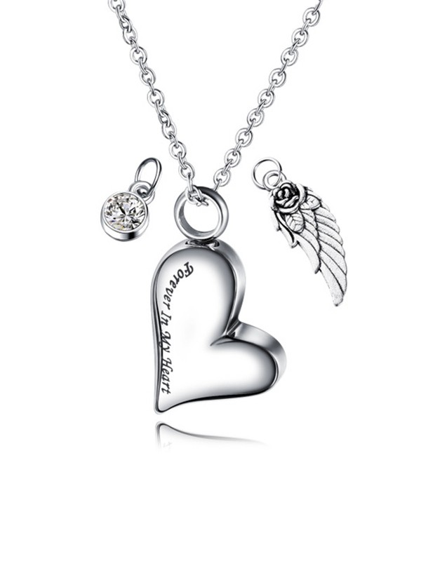 Fancy Titanium With Love Necklaces For Women