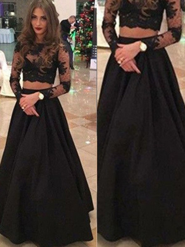 Aesthetic Honesty Princess Style Scoop Floor-Length Lace Dresses