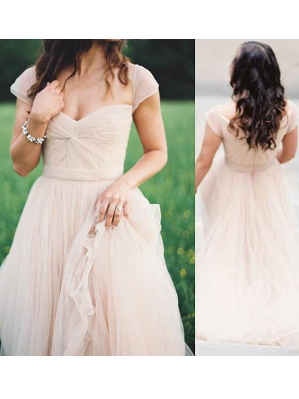 Too Much Fun Princess Style Sweetheart Floor-Length Ruched Chiffon Dresses