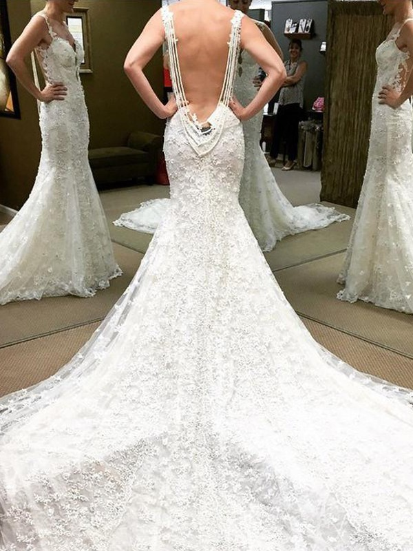 Glitz the Spot Ball Gown Cathedral Train Off-the-Shoulder Lace Wedding Dresses