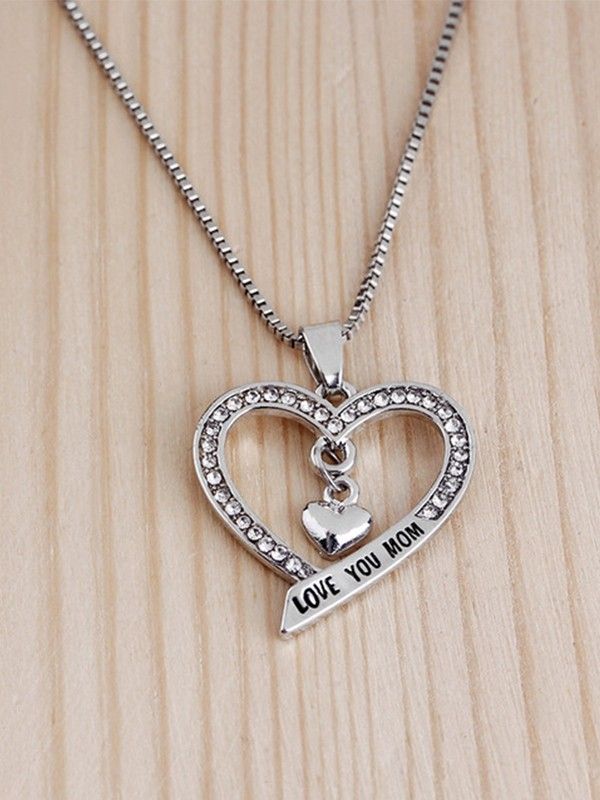 Brilliant Alloy With Rhinestone Hot Sale Necklaces For Mother