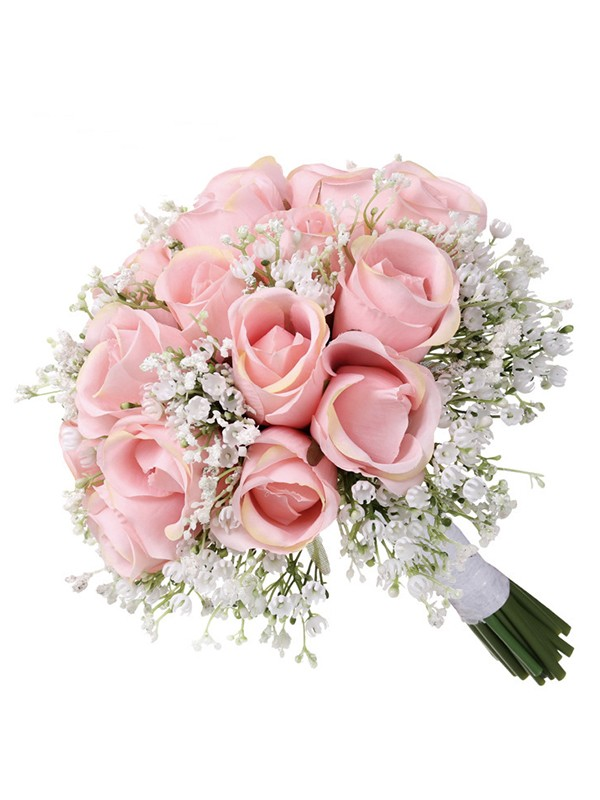 Sweet Round Artificial Flower Bridal Bouquets