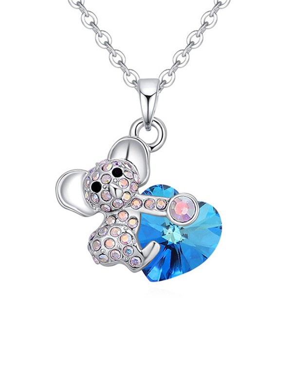 Lovely Alloy With Crystal Necklaces For Ladies