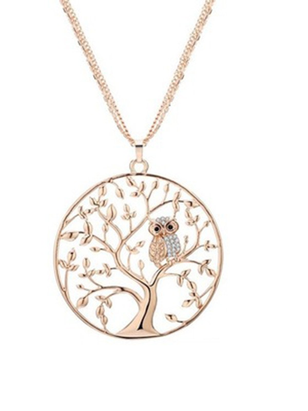 Beautiful Alloy Women's Necklaces With Tree