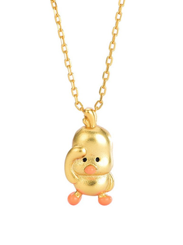 Cute Copper With Duck Necklaces For Ladies