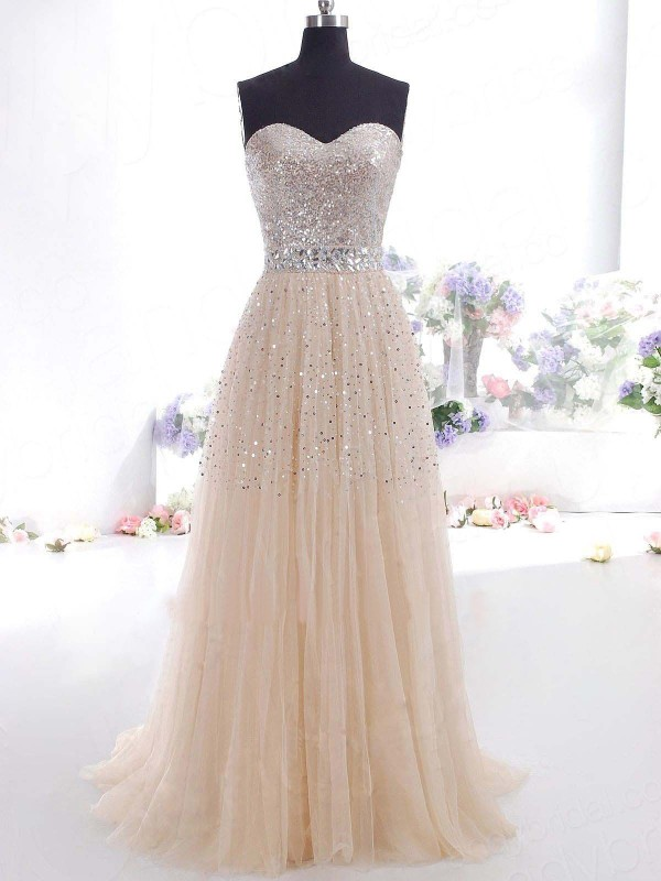 Pleased to be Me Princess Style Sweetheart Tulle Floor-Length Dresses
