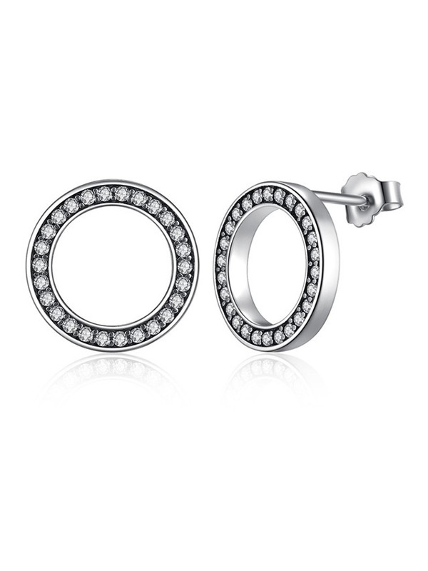 Trending Circular S925 Silver Ladies's Earrings