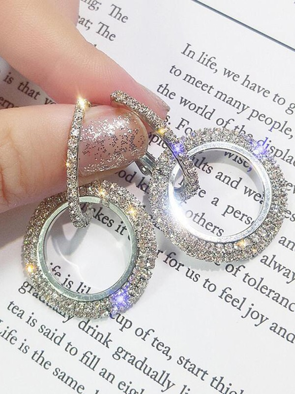 Trending Round Crystal Women's Earrings