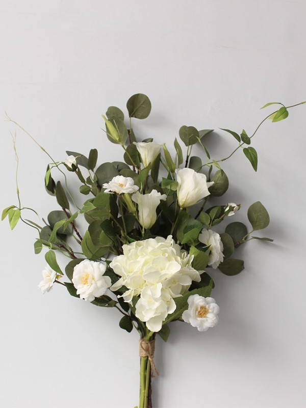 Sweet Free-Form Silk Flower Bridal Bouquets