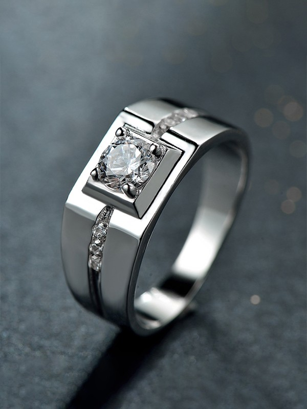 Gorgeous S925 Silver With Zircon Rings For Men