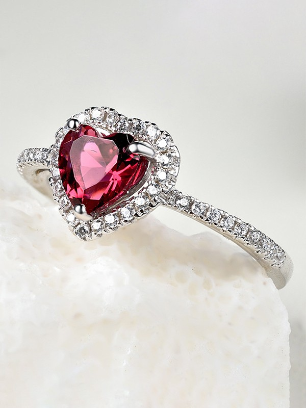 Gorgeous S925 Silver With Zircon Wedding Rings